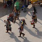 Group of Aztec Musicians and Dancers - Grupo de Musicos y Bailarines by PtoVallartaMex