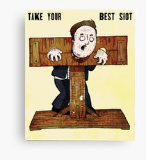 Cameron In The Stocks Canvas Print
