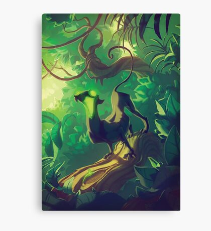 Acid Panther Illustrative Canvas Print