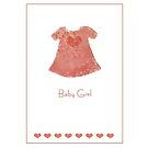 Baby girl card by Gillian Cross