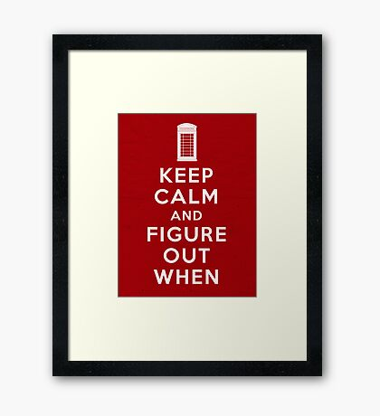 Keep Calm and Figure Out When Framed Print