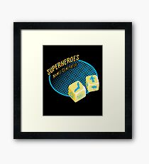 Superheroes name-generator Framed Print