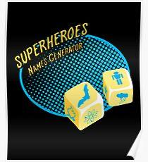 Superheroes name-generator Poster