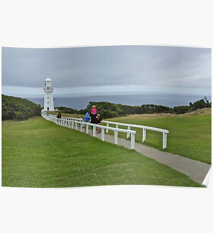 Towards the Sea: Cape Otway Lighthouse, Vic. Australia Poster