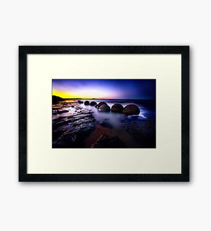 Moeraki Boulders Framed Print