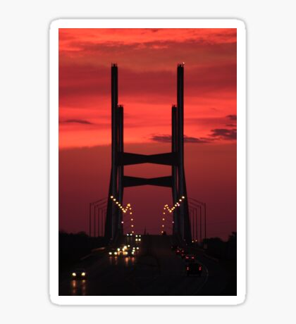 Bill Emerson Memorial Bridge at Dusk Sticker