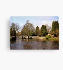 Sheepwash Packhorse Bridge Canvas Print