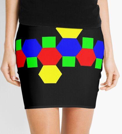 Net of a Truncated Octahedron Mini Skirt