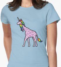 Pink Girafficorn Womens Fitted T-Shirt