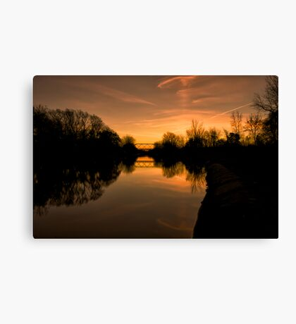 Sunrise over the Erie Canal Canvas Print