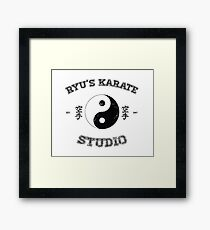 Ryu's Karate Studio Framed Print