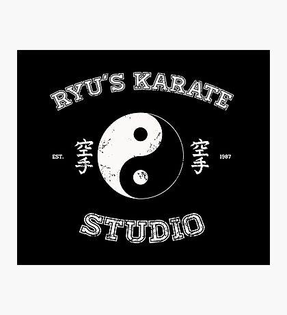 Ryu's Karate Studio - Black Version Photographic Print