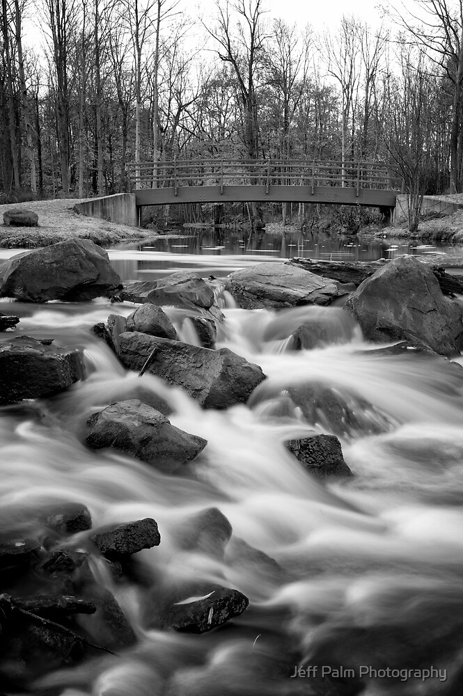 Holley Falls in B&W by Jeff Palm Photography