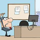 Angry Businessman With Baseball Bat In Office by ChudTsankov