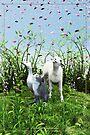 Spring! (A sudden rain of petals) by Roberta Angiolani