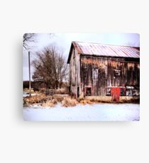 Winter Midwest Barn  Canvas Print