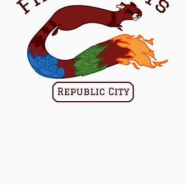 Republic City Fire Ferrets (Pro-bending) by gendrive