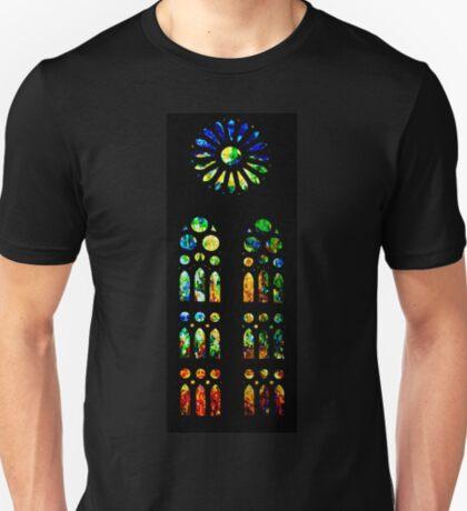 Stained Glass Windows - Sagrada Familia, Barcelona, Spain T-Shirt