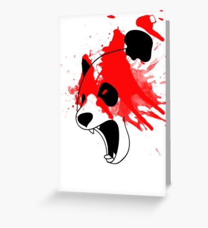 PandAngry Greeting Card