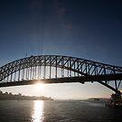 Sydney Harbour Bridge, Early Morning Rays by Richard  Windeyer