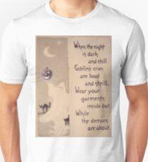 The Ghost & The Pumpkin (Vintage Halloween Card) Unisex T-Shirt