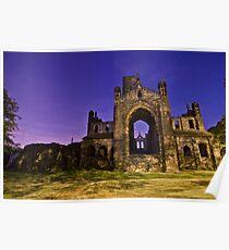 Kirkstall Abbey Cistercian monastery Leeds West Yorkshire Night Poster