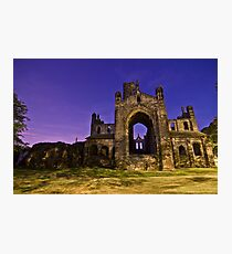 Kirkstall Abbey Cistercian monastery Leeds West Yorkshire Night Photographic Print