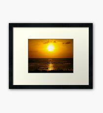 Honey dusk Framed Print