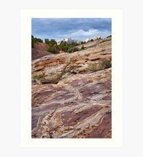 Sandstone Patterns at Split Mountain 2 Art Print