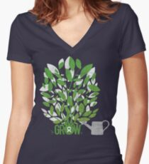 OXFAM: GROW Women's Fitted V-Neck T-Shirt