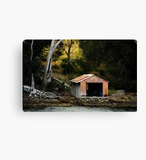The Orange Boat Shed Canvas Print