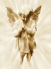 A Little Angel Praying For Children Among All The Nations by Marie Sharp