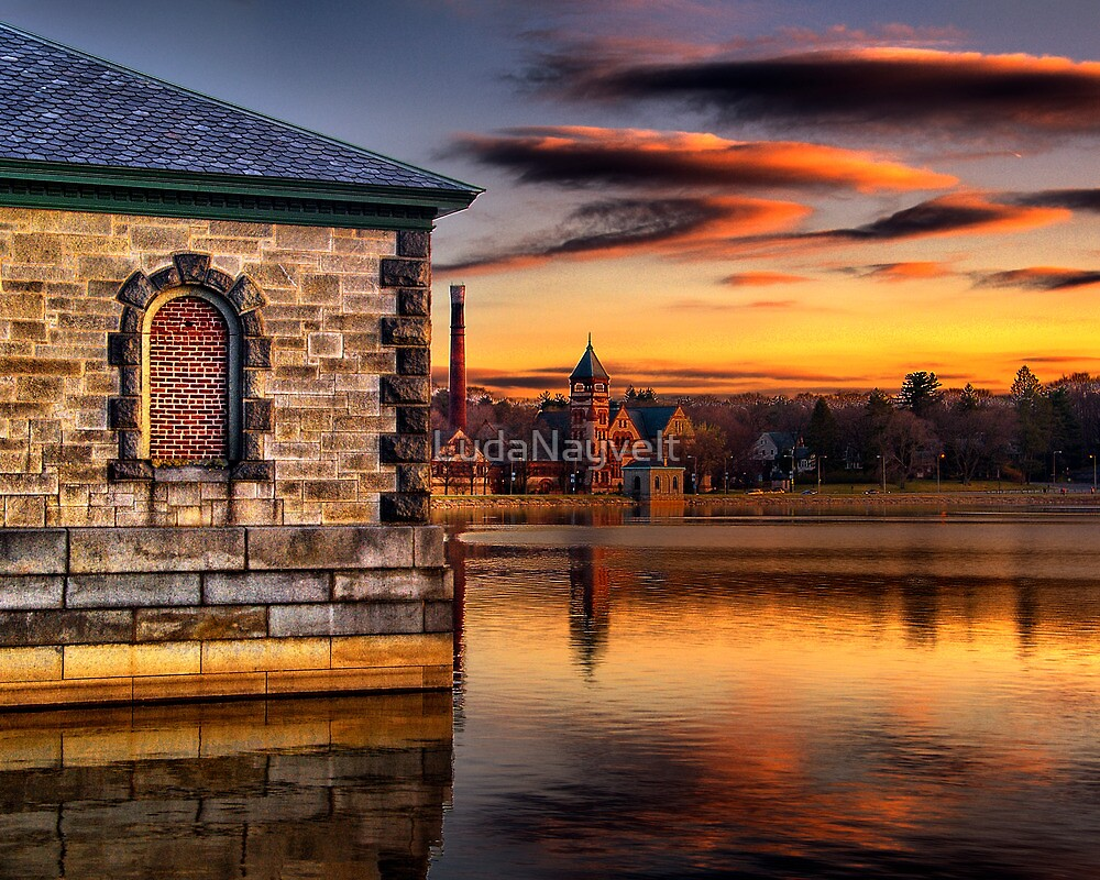 Sunset at Waterworks Museum by LudaNayvelt