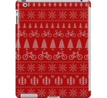 Christmas Cycling Jumper | Red iPad Case/Skin