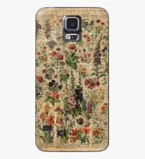 Colourful Wild Meadow Flowers Over Vintage Dictionary Book Page Case/Skin for Samsung Galaxy