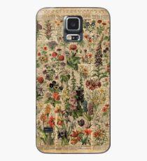 Bunte wilde Wiesenblumen über Weinlese-Wörterbuch-Buch-Seite Hülle & Klebefolie für Samsung Galaxy