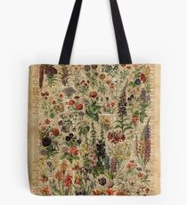 Colourful Wild Meadow Flowers Over Vintage Dictionary Book Page Tote Bag