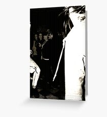 Dancing with Shadows Greeting Card