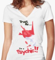 Trust Me... I'm a Psychic!! Women's Fitted V-Neck T-Shirt
