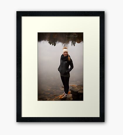 Rox by the Lake Framed Print