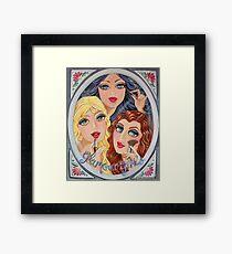 Snow White, Goldilocks and Little Red Riding Hood Framed Print