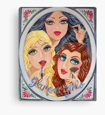 Snow White, Goldilocks and Little Red Riding Hood Canvas Print