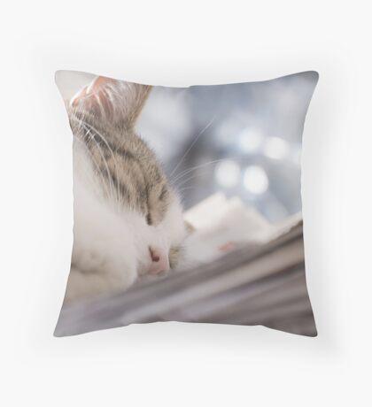Paper Girl Dream Throw Pillow