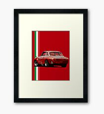 The red vintage Italy Framed Print