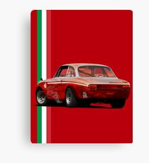 The red vintage Italy Canvas Print
