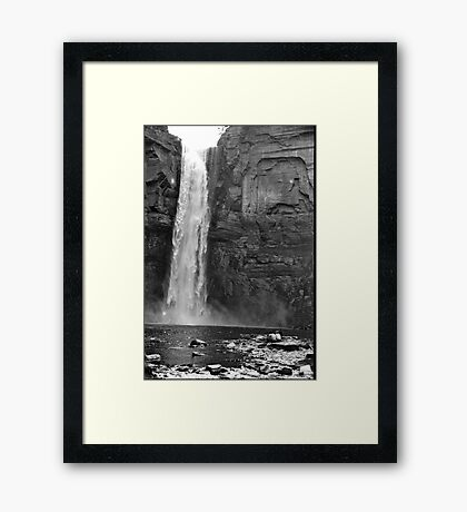Ithaca Waterfall Framed Print