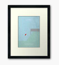 Ferris Buellers Ruhetag - minimalistisches Filmplakat Gerahmtes Wandbild
