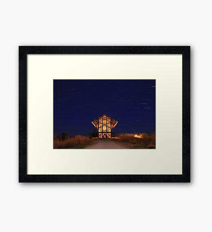 Shrine at Night Framed Print