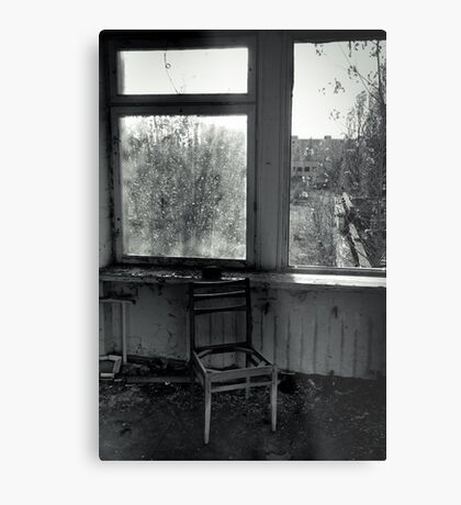 A Seat by the Window Metal Print