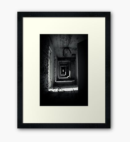 Your Room is the Last on the Left Framed Print